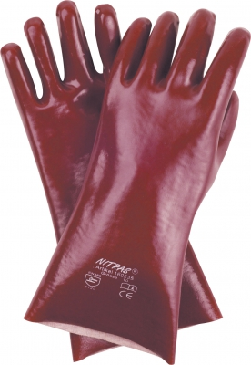 Pvc-Handschuhe,rotbraun 27cm