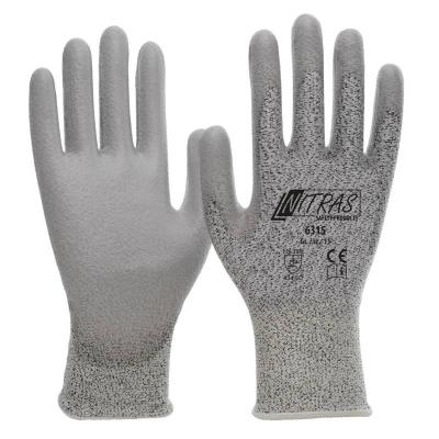 Nitras Schnittschutzhandschuhe, grau, graue PU-Beschichtung