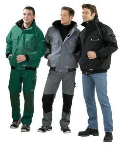 Planam Winter-Blouson Canvas 320, grau/ schwarz