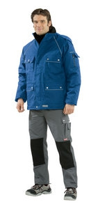 Planam Winter-Parka Canvas 320, kornblau