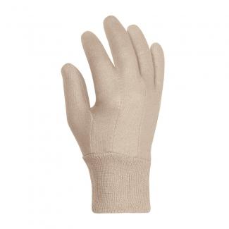 Baumwolljersey-Handschuhe MITTELSCHWER mit Strickbund