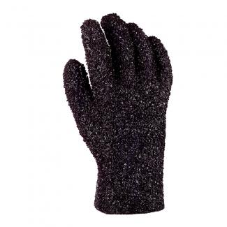 teXXor® PVC-Handschuhe - schwarz, granuliert