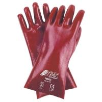 Pvc-Handschuhe,rotbraun 35cm