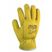 Fahrer gelb Rindnappa-Fahrerhandschuhe