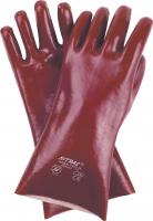 Pvc-Handschuhe,rotbraun 40cm
