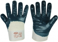 Bluestar Nitril Handschuhe blau , teilbeschichtet
