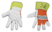 Rindvollleder-Handschuhe HI-VIS