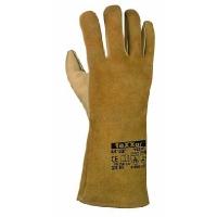 Vesuv Rindvoll-/Spaltleder-Schweißhandschuhe,beige 35cm Länge