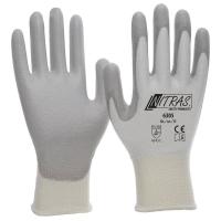 Nitras Schnittschutzhandschuhe, weiß, graue PU Beschichtung