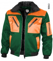 Qualitex Pilotenjacke grün/orange 100043