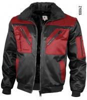 Qualitex Pilotenjacke rot/schwarz 100042