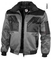 Qualitex Pilotenjacke grau/schwarz 100041