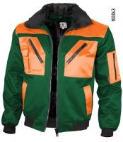 Qualitex Pilotenjacke grün/orange 100043