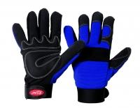 Mec Blue Synthetik-Leder Handschuh