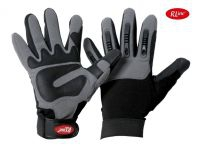 Mec Grey Synthetik-Leder Handschuhe