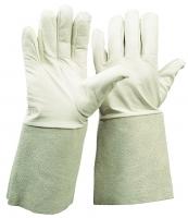 Nappaleder-Handschuh mit Spaltlederstulpe