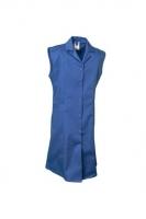 Planam Damen Berufsmantel ärmellos Mischgewebe, kornblau