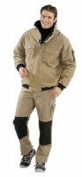 Planam Winter-Blouson Canvas 320, khaki/ schwarz