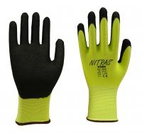 Nitras Neon Nylon Handschuhe mit Nitrilbeschichtung