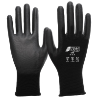 NITRAS Schnittschutzhandschuhe, schwarz, PU-Beschichtung