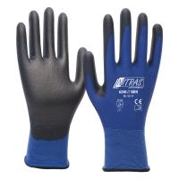 Nitras Skin Nylon Handschuhe mit PU Beschichtung