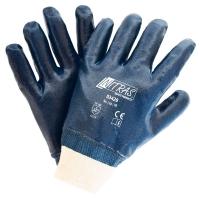 Nitras Nitrilhandschuhe blau vollbeschichtet mit Strickbund