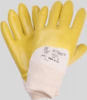 Nitrilhandschuhe gelb teilbeschichtet(europäische Ware)