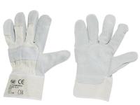 Rindspaltleder-Handschuhe KS/Grau