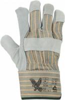 Falke G Rindspaltleder-Handschuhe, gummierte Stulpe