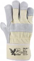 Falke-T Rindspaltleder-Handschuhe, gummierte Stulpe, 1,3 mm Lede