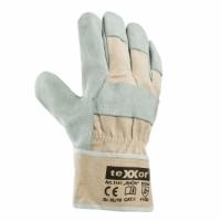Rindspaltleder-Handschuhe Harz, gefüttert