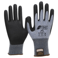 NITRAS TAEKI5 Schnittschutzhandschuhe, blau, Nitrilschaum-Beschichtung