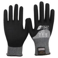 NITRAS TAEKI5 Schnittschutzhandschuhe, grau, Nitrilschaum-Beschichtung