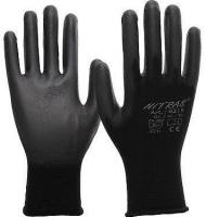 Nitras Nylon-Handschuhe,schwarz,schwarze PU-Beschichtung