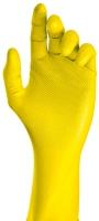 Nitril-Einweghandschuhe GRIP gelb