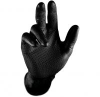 Nitril-Einweghandschuhe GRIP schwarz