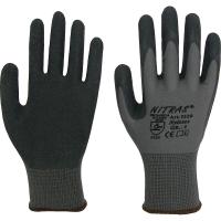 Nylonhandschuhe,grau, schwarze Latexbeschichtung Nitras 3520