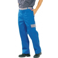 Planam Major Protect Bundhose, kornblau/grau