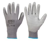 Polyester-Handschuhe GREY GRIP
