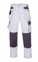 teXXor® Canvas-Bundhose (270 g/m²) PANAMA - weiß/grau