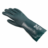 teXXor® Chemikalienschutzhandschuhe PVC GRÜN