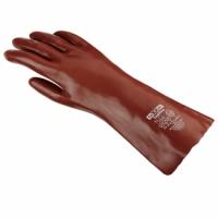 teXXor® Chemikalienschutzhandschuhe PVC ROTBRAUN