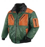 teXXor® Pilotjacke OSLO - grün/leuchtorange