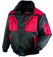 teXXor® Pilotjacke OSLO - schwarz/rot
