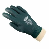 texxor® PVC-Handschuhe, Grün mit Strickbund